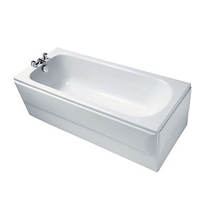 Ideal Standard Alto Straight Bath Water Saving  1700x700mm 2 Tap Holes