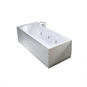 Novellini Sinuosa Straight Whirlpool Bath 1800x800mm No Tap Hole