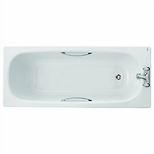 Twyford Celtic Steel Bath Only 1700 Plain Twin Grip