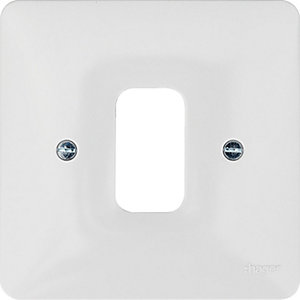 Hager WMGP1 1 Gang White Moulded Grid Plate