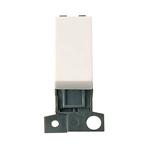 Minigrid MD018PW 10AX 13A Resistive Dp Switch Module - Polar White