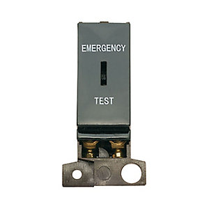 Minigrid MD029BK 10AX Dp Keyswitch Module 'emergency Test' - Black
