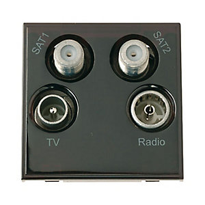 New Media MM440BK Quad TV, Radio, Sat 1 & Sat 2 Module - Black