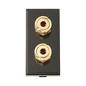 New Media MM495BK Loudspeaker Module (2 Outlets) - Black