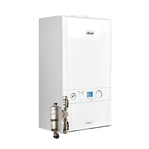 Ideal Logic Max S18 18kW System Boiler with System Filter & Horizontal Flue
