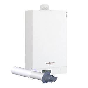 Viessmann Vitodens 100-W 30kW System Boiler with Horizontal Flue Pack B1HC030