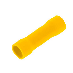 Unicrimp Qyb Butt Connector Terminal Bag of 100 - Yellow