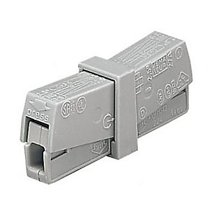 Wago 224-201 2 Way Inline Connector - Grey - Box of 50