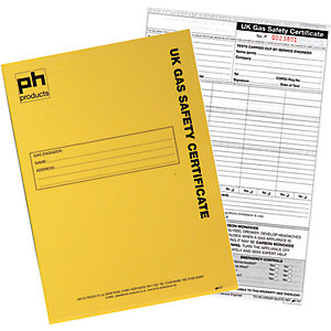 Arctic Uk Gas Safety Certification Pad 25 Sets Triplicated PH091