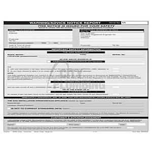 Regin Warning Notice Report Pad REGP55
