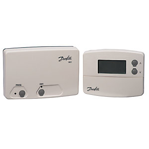 Danfoss TP5000Si RF & RX-1 Boxed Set Wireless Programmable Room Thermostat 087N791400