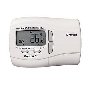 Drayton Digistat+2 24 Hour Programmable Room Thermostat Mains 22088