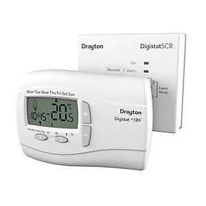Drayton Digistat+3 RF 7 Day Wireless Programmable Room Thermostat with SCR RF701N