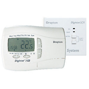 Drayton Digistat+3RF 7 Day Wireless Programmable Room Thermostat & Receiver RF701