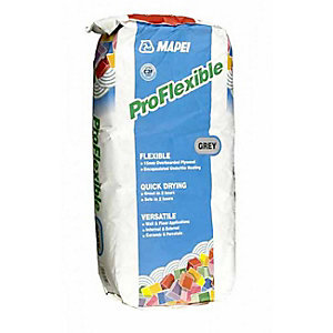 Mapei Pro Flexible Grey Tile Stone Cement Adhesive Powder Mix 20 kg