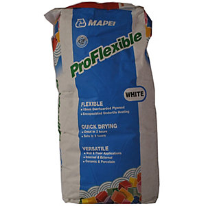 Mapei Pro Flexible White Tile Stone Cement Adhesive Powder Mix 20 kg