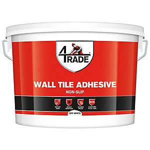 4TRADE Non Slip Off-White Wall Tile Adhesive 15L