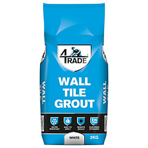 4TRADE White Wall Tile Grout 2kg