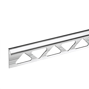 Vitrex Quadrant Trade Tile Trim 10 mm Silver