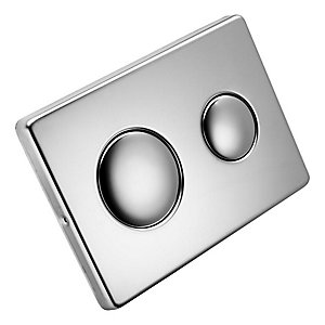 Flush Plate Stainless Steel with logo