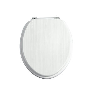 Heritage White Ash/Chrome Soft Close Seat