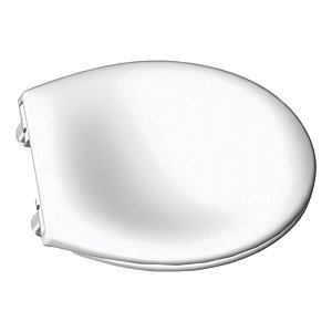 iflo Cascada Soft Close Top Fix White Bathroom Toilet Seat Cover