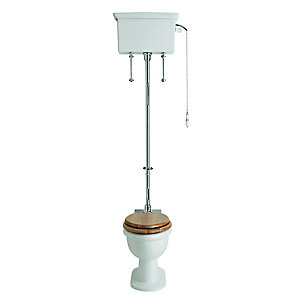 Heritage Stratford High Level Cistern White PVEW02TP