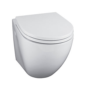Ideal Standard White Wall Mounted Toilet Pan with Horizontal Outlet E000501
