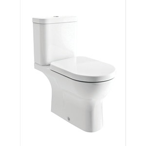 iflo Rhea Bathroom WC Toilet Close Coupled White Cistern