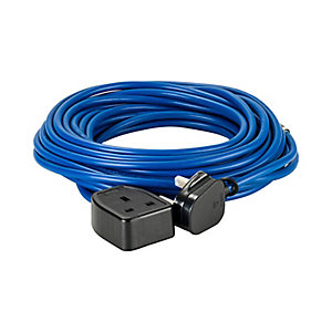 Defender E85222 14m Extension Lead - 13A 1.5mm Cable - Blue 240V