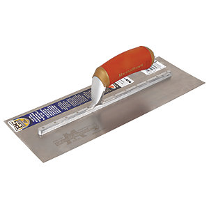 Marshalltown Stainless Steel Plastering Trowel with Durasoft Handle 14in x 5in