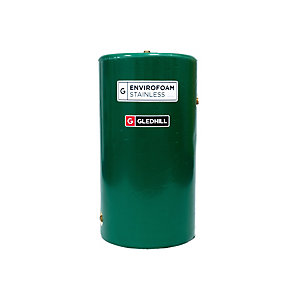 Gledhill Envirofoam 1250 x 450mm Indirect Stainless Steel Cylinder with Boss Cylinder Thermostat