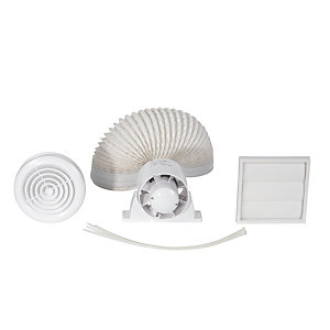 Airflow Aura Inline Shower Fan Kit With Timer 100mm