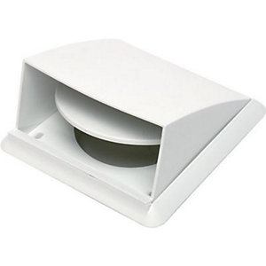 Manrose PVC White Cowled Wall Outlet - 100mm