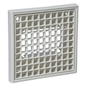 Manrose PVC White Egg Crate Grille - 100mm