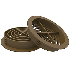Manthorpe Circle Soffit Vent Brown