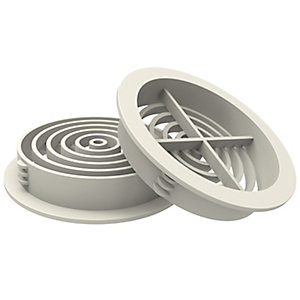 Manthorpe Circle Soffit Vent White