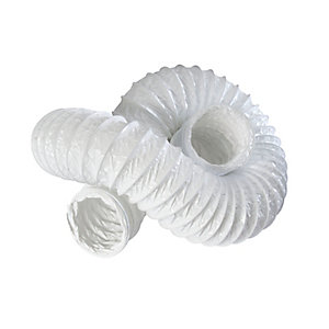 iflo PVC Flexible Ducting 100 x 3000mm White