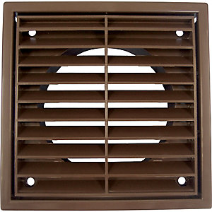iflo R1152B Louvered Grille Fixed 100mm Brown