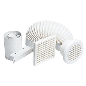 iflo SF100TB Shower Fan Kit 100mm 4in Plus Timer