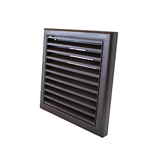 100mm Fixed Grille - Brown
