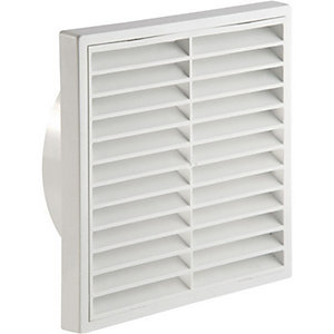 Manrose 100mm White Fixed Grille - 1152W