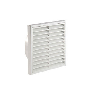 Manrose 150mm White Fixed Grille - 1192W