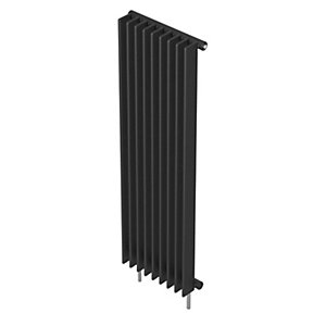 Barlo Adagio S70 Vertical Single Designer Radiator Matt Charcoal 1800x600mm