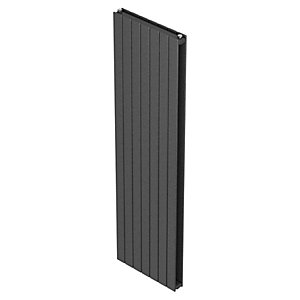 Barlo Slieve Vertical Double Panel Designer Radiator Gun Metal 1800x433mm