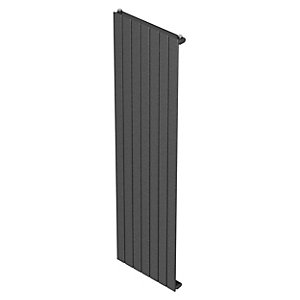 Barlo Slieve Vertical Single Panel Designer Radiator Gun Metal 1800x433mm