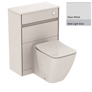 Ideal Standard Philosophy WC Unit 600mm Gloss White & Matt Light Grey E1665KN