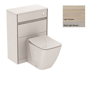 Ideal Standard Philosophy WC Unit 600mm Wood Light Brown & Matt Light Brown E1665UK