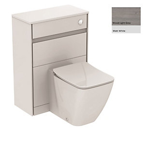 Ideal Standard Philosophy WC Unit 600mm Wood Light Grey & Matt White E1665PS