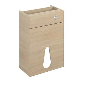 iflo Aliano WC Base Unit Oak and Panel 500 x 380mm